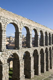 Roman aqueduct - Segovia. The monument is in old city of Segovia.  UNESCO World Heritage Site, Spain Royalty Free Stock Images