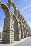 Roman aqueduct of segovia. architectural monument declared patrimony of humanity and international interest by UNESCO royalty free stock photos