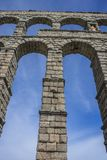 Roman aqueduct of segovia. architectural monument declared patrimony of humanity and international interest by UNESCO royalty free stock photography