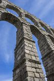 Roman aqueduct of segovia. architectural monument declared patrimony of humanity and international interest by UNESCO stock image