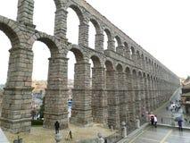 Roman Aqueduct of Segovia, the Impressive UNESCO World Heritage Site in Segovia Stock Photography