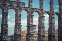 Roman Aqueduct (Segovia) Royalty Free Stock Photos