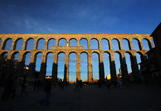 Roman aqueduct in Segovia, Spain Stock Photography