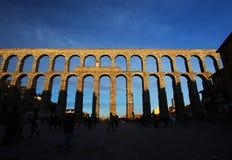 Roman aqueduct in Segovia, Spain. The Roman aqueduct in Segovia, Spain stock photography