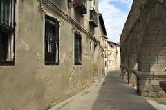 Roman aqueduct in Segovia (Spain) Royalty Free Stock Photo