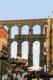 Roman aqueduct Segovia, Spain Royalty Free Stock Images