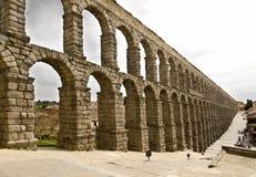 Aqueduct. Roman Aqueduct of Segovia, Spain Stock Images