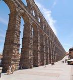 Roman Aqueduct of Segovia Royalty Free Stock Photography