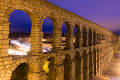 Roman aqueduct  in    Segovia, Spain Royalty Free Stock Images