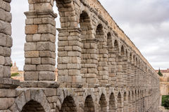 Roman aqueduct in Segovia, Spain Royalty Free Stock Image