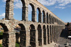 Roman aqueduct of Segovia. Stock Photography