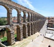 Roman Aqueduct of Segovia, summer Royalty Free Stock Images