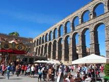 Roman Aqueduct, Segovia Stock Photography