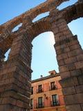 Roman Aqueduct, Segovia Stock Image