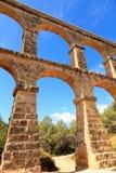 Roman aqueduct in Tarragona. Spain Royalty Free Stock Photo