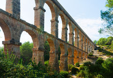 Roman aqueduct   in Tarragona Royalty Free Stock Photo