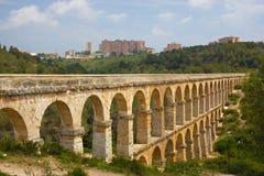 Roman aqueduct in Tarragona, Spain Stock Photo
