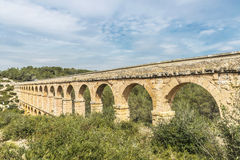 Roman aqueduct in Tarragona, Spain Royalty Free Stock Images