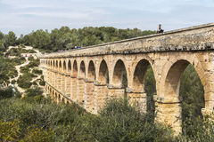 Roman aqueduct in Tarragona, Spain Stock Photo