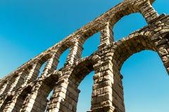 Roman aqueduct. Unesco's site, The roman aqueduct in Segovia, Spain Royalty Free Stock Image