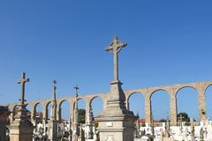 Roman Aqueduct, Vila do Conde, Douro Region, Royalty Free Stock Photo