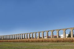 Aqueduct, Vila do Conde, Douro Region, Northern Portugal. Roman Aqueduct, Vila do Conde, Douro Region, Northern Portugal Stock Photography