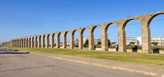 Roman Aqueduct, Vila do Conde, Douro Region, Northern Portugal royalty free stock photo