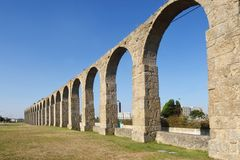 Roman Aqueduct, Vila do Conde, Douro Region,. Northern Portugal Royalty Free Stock Photography