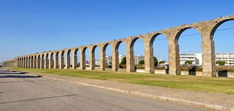 Roman Aqueduct, Vila do Conde, Douro Region,. Northern Portugal Stock Photos