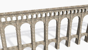 Roman Aqueduct on White Stock Images