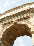 Roman Arch. Ancient Roman Arch Covering the Entrance to the Forum Romanum stock photography