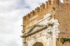 Roman Arch of Augustus. Arch of Augustus, an ancient Roman gateway to the city of Rimini in Italy Royalty Free Stock Photo