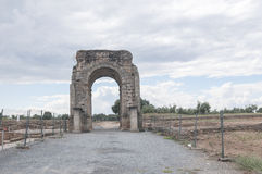 Roman arch of Caparra Stock Images