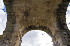 Roman Arch of Caparra Royalty Free Stock Photography