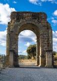 Roman Arch of Caparra Stock Photos