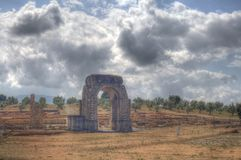 Roman arch in Caparra in hdr Stock Photography
