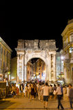 Roman arch in the center of Pula. In Croatia Royalty Free Stock Images
