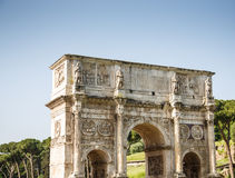 Roman Arch at Coliseum. Ancient Roman arch near the coliseum Royalty Free Stock Photos