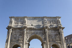 Roman Arch of Constantine in Rome. ROME, ITALY - SEPTEMBER 2016: Magnificent Arch of Constantine Stock Photos