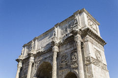 Roman Arch of Constantine in Rome. ROME, ITALY - SEPTEMBER 2016: Magnificent Arch of Constantine Royalty Free Stock Image