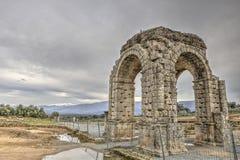 Roman Arch de Caparra, Caceres, España Fotografía de archivo