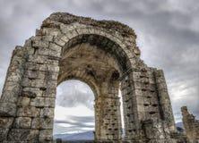 Roman Arch de Caparra, Caceres, España Imagen de archivo libre de regalías