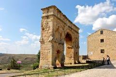 Roman arch gate, Medinaceli, Spain Royalty Free Stock Image