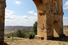 Roman arch gate, Medinaceli, Spain Royalty Free Stock Images