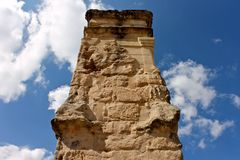 Roman arch gate, Medinaceli, Spain Royalty Free Stock Photo