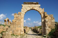 Roman arch, Libya Stock Photography