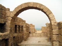 Roman arch, ruins, Caesarea, Israel, Middle East Royalty Free Stock Images