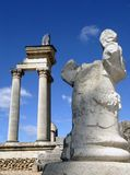 Roman Arch and statue Royalty Free Stock Photography
