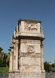 Roman Arch Under Clear Blue Sky Stock Photography