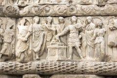 Roman Arch van Galerius in het centrum van stad van Thessaloniki, Centraal Macedonië, Griekenland royalty-vrije stock fotografie
